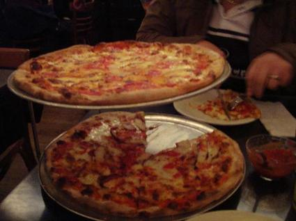 Pizza at John's on Bleecker. 278 Bleecker Street (between 6th and 7th Aves.