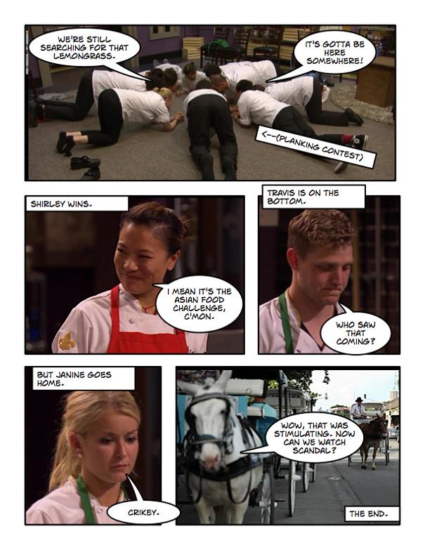 Top Chef New Orleans Cartoon Recap Episode 4 The
