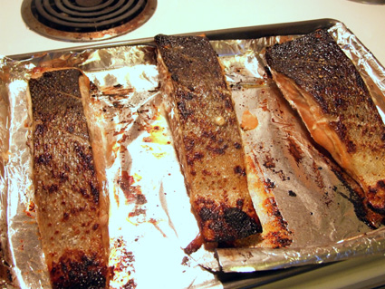 Roasted Salmon with Watercress-Herb Salad 4