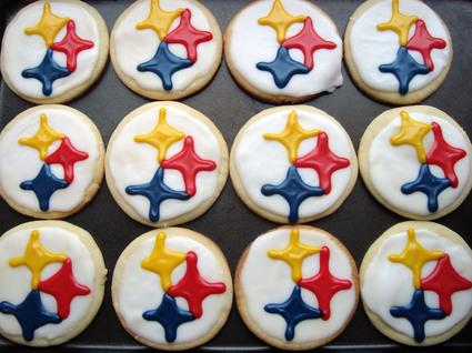 Pittsburgh Steeler Cut-Out Sugar Cookies 1